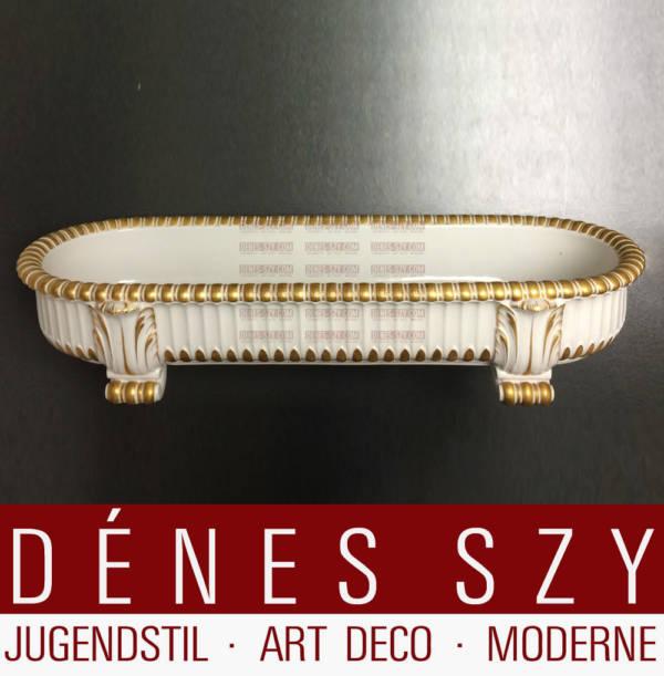 Hochzeitszug KPM Berlin Porzellan Jardiniere Gold gehöht 1911