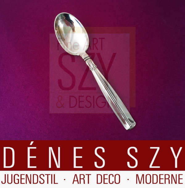 Esslöffel, Tafellöffel, Mid Century Modern Design Besteck, Muster LOTUS, Ausführung W. & S. SORENSEN, Denmark ca. 1950, Sterling Silber 925