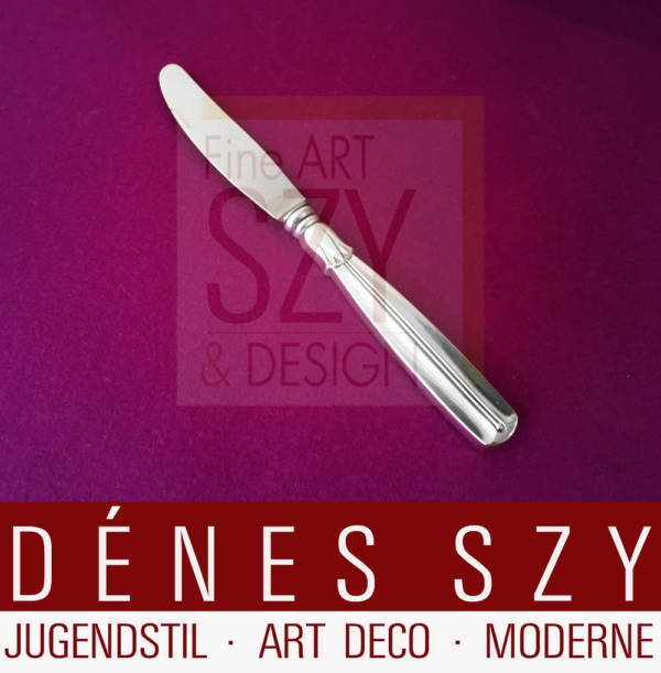 Tafelmesser, Essmesser, Mid Century Modern Design Besteck, Muster LOTUS, Ausführung W. & S. SORENSEN, Denmark ca. 1950, Sterling Silber 925