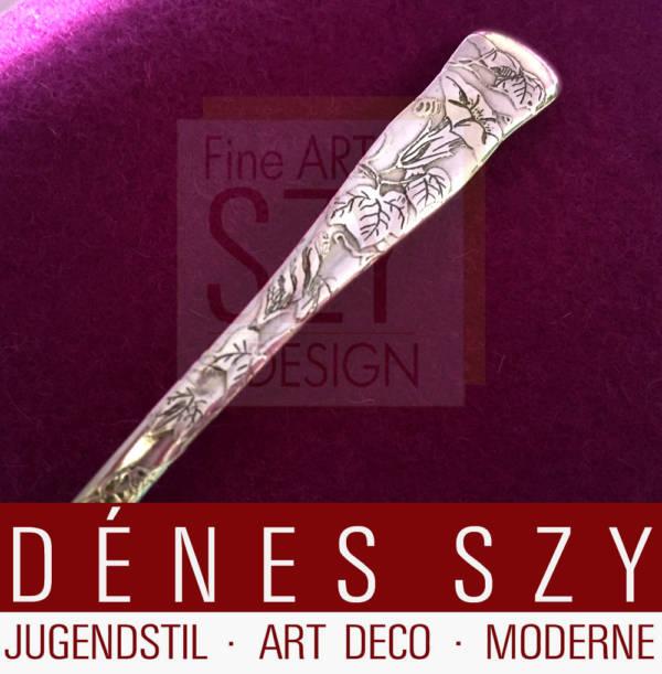 Tiffany Jugendstil Silberbesteck Lap over Edge Kaffeelöffel Variante
