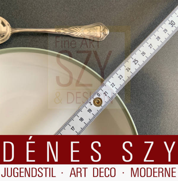 Soup plate, Pattern: Urbino with celadon edge, Design: Trude Petri 1931, Execution: Royal KPM Berlin 1942