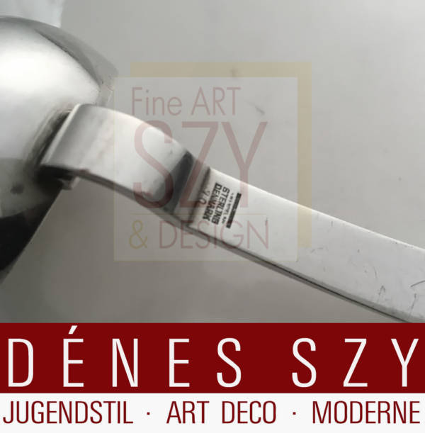 Art Deco silver gravy ladle, Cutlery pattern 70, Design: probably Harald Nielsen 1930s, Execution: Georg Jensen silversmith's, Copenhagen Denmark 1945-51, Jensen & Wendel