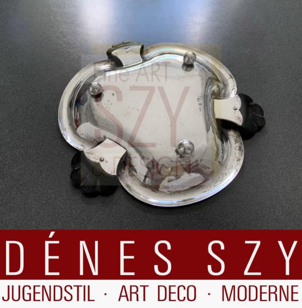 Georg Jensen Silber Anbietschale 221 Silber 830 1920er Jahre, Art Deco Silber, Georg Jensen Silberschmiede, Kopenhagen ca. 1920, Silber 830
