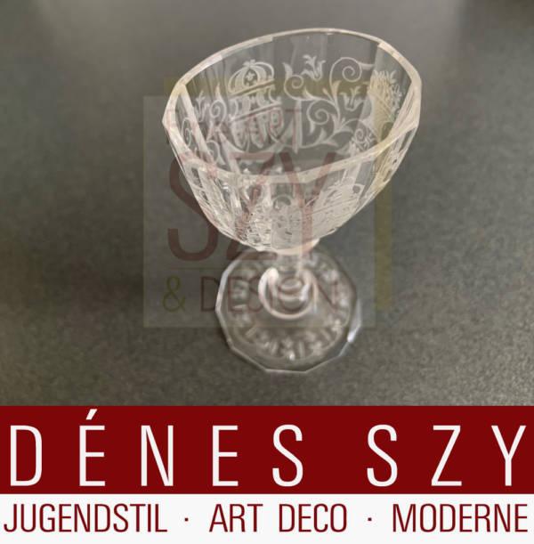 Josef Lobmeyr Vienne Autriche Maria Theresia verre à Sherry cristal