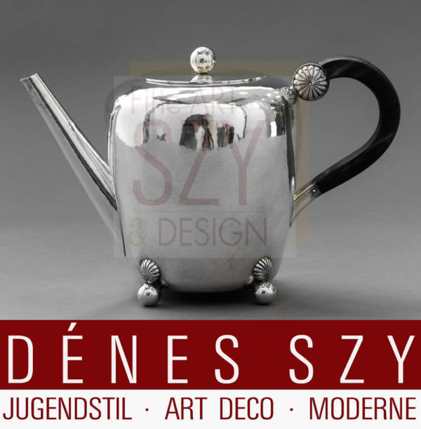 Paula Straus Kaffeekanne Silber 1930er Jahre Art Deco
