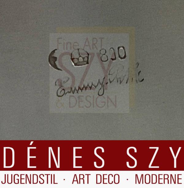Vierflammiger Silber Kandelaber, asymmetrisch gearbeitet, Entwurf und Ausführung: Emmy Roth, vermutlich Werkstatt Berlin um 1925/27, Silber 800