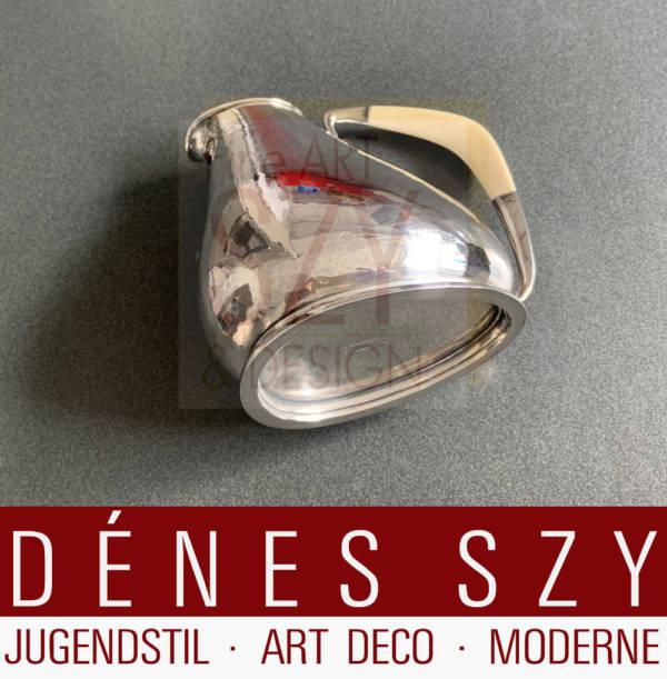 Art Deco juice jug, jug, Design: Karl Gustav Hansen approx. 1930-35, Execution: Hans Hansen silversmith's, Copenhagen 1936, Sterling silver, silver 925