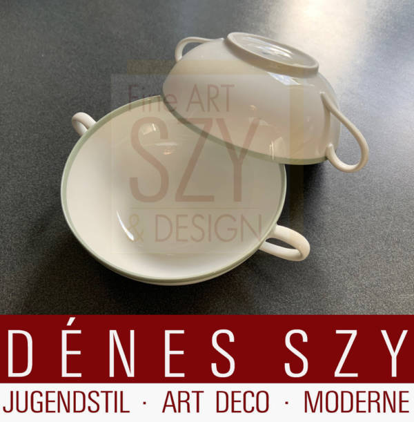 Soup cup, Pattern: Urbino with celadon edge, Design: Trude Petri 1931, Execution: Royal KPM Berlin, Germany from 1931