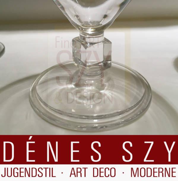 Weißweinglas, Entwurf und Ausführung: Cristalleries du Val Saint Lambert, Jemeppe-sur-Meuse, Belgien ca. 1936, Werksentwurf, Modell Major