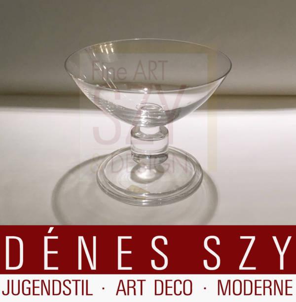 Sorbet Schale, Entwurf und Ausführung: Cristalleries du Val Saint Lambert, Jemeppe-sur-Meuse, Belgien 1930er Jahre, Werksentwurf, Modell Nevel