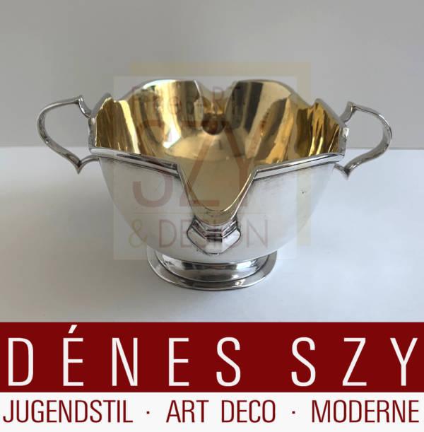 Barock Sauciere, Silber 12 Lot, 750 / 1000, Stadtmarke Uelzen 1730-40, Deutschland, Meistermarke: F.S für Friedrich Schultze