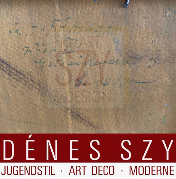Impressionistische Gartenszene bei Florenz, Karl Hoffmann (Wien 1893-1972 ebd.) 1920er Jahre, Öl auf Hartfaserplatte, signiert unten rechts K. Hoffmann