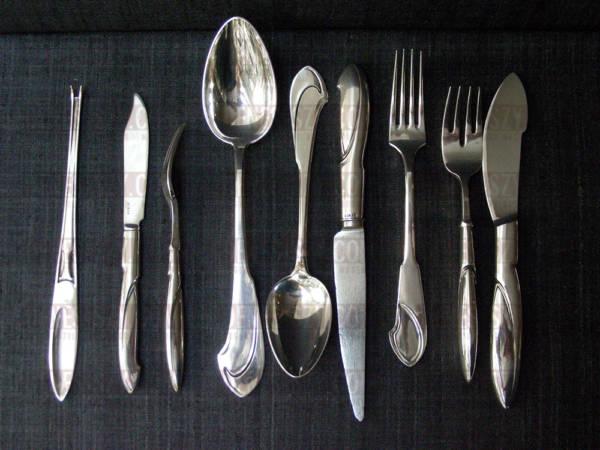 Henry van de Velde, Modell Nr.I, Silber Besteck, Silberbestecke