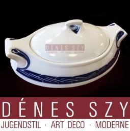 terrina porcellana modello sferzata di Henry van de Velde, Meissen 1904-10