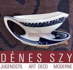 Henry van de Velde meissen porcelain, Peitschenhieb, whiplash, XL gravy boat