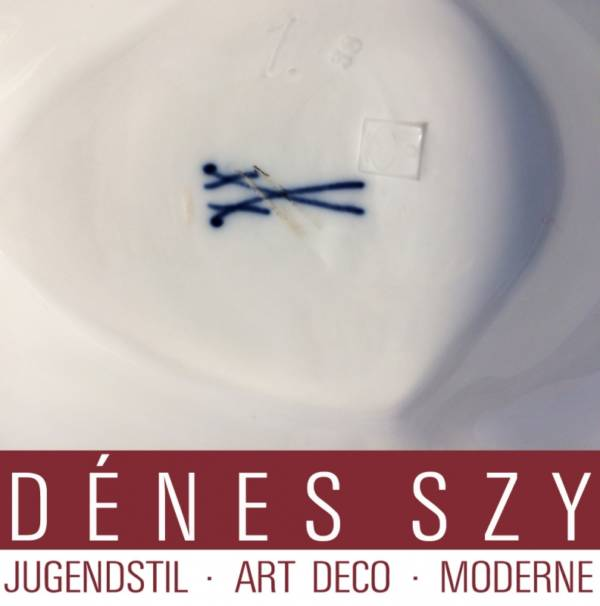 Salsiera in porcellana epoca liberty di Henry van de Velde per Meissen