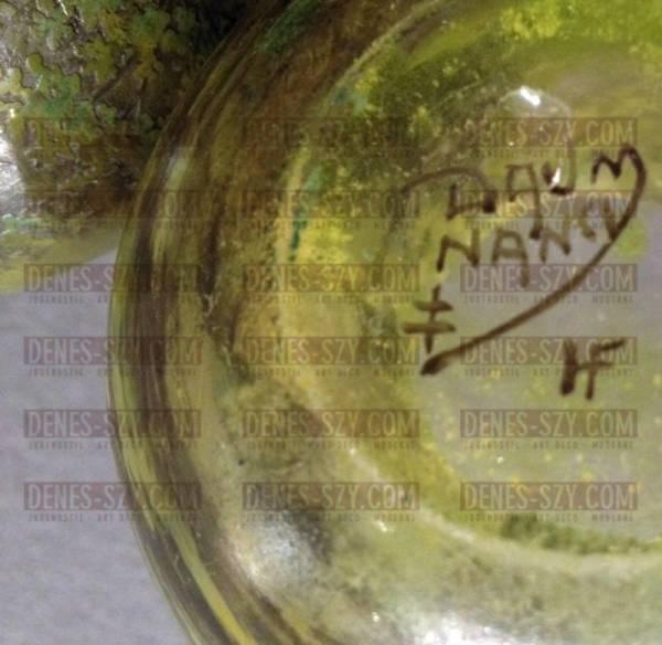 Daum Nancy, Deckeldose, Jugendstilglas, Sommerwald