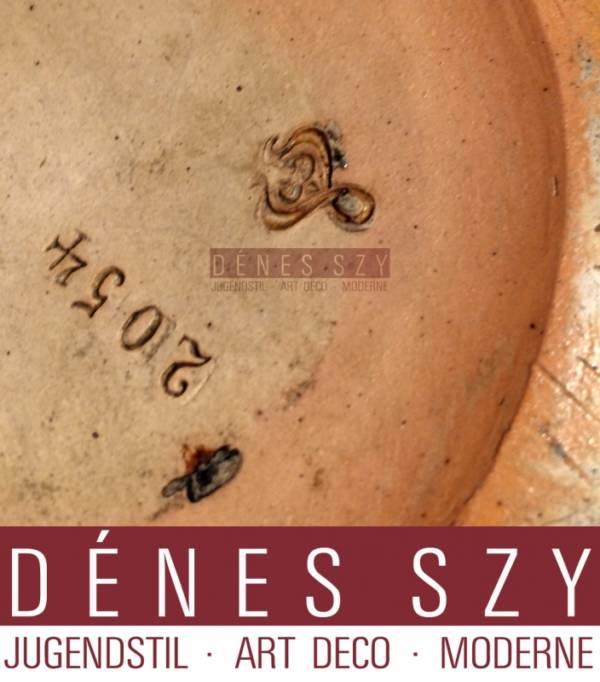 Henry van de Velde, Vase, grès émaillé au sel de Hanke # 2054