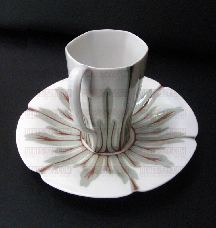 1900 JUGENDSTIL PORZELLAN MEISSEN Kaffeetasse, Krokusmuster