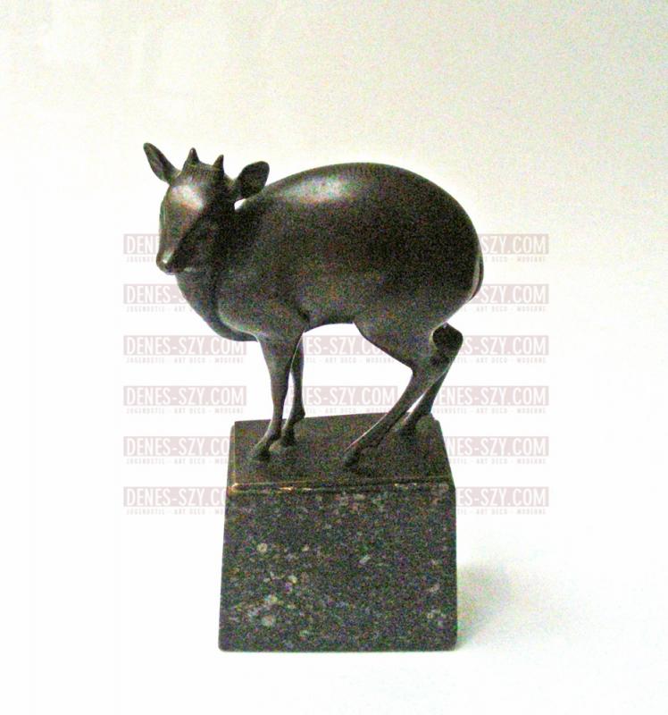 Fritz Behn, german Art Deco bronze figure of a dwarf antelope