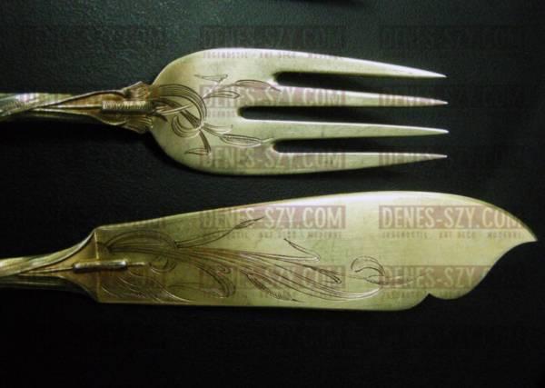 BRUCKMANN, Weltausstellung Paris 1900 IRIS, Fischbesteck