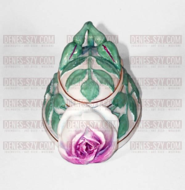 Vogeler, Meissen 1900, Art Nouveau China, ladys oval rose bud box