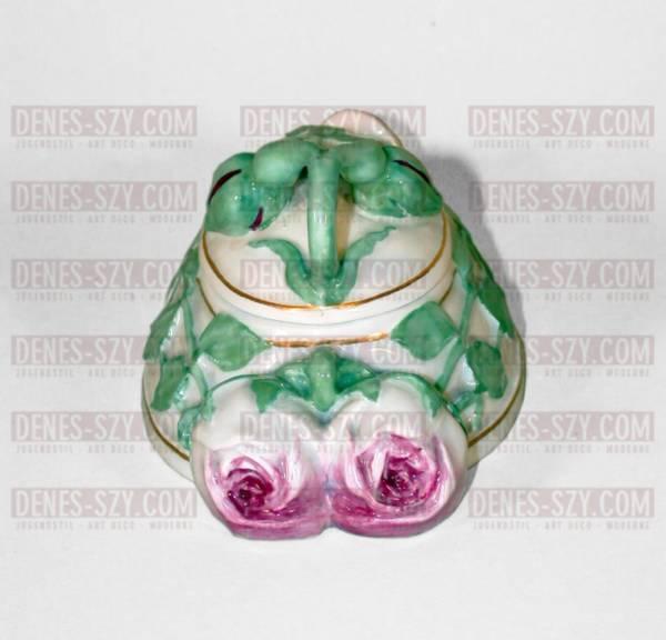 Heinrich Vogeler per Meissen scatola in porcellana liberty decoro di rose