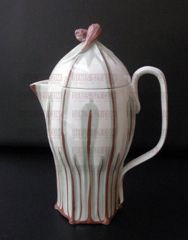 Meissen Krokusmuster Kaffeekanne, Konrad Hentschel, Jugendstil P
