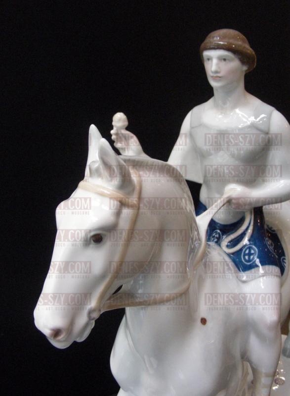 Royal KPM Berlino figura di porcellana dal corteo nuziale, IL SPOSO, disegno di Adolph Amberg 1904-1910