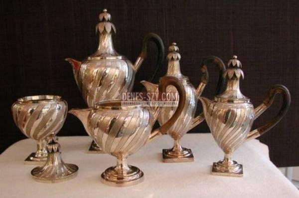 Empire Kaffee Service Silber Augsburg 1803
