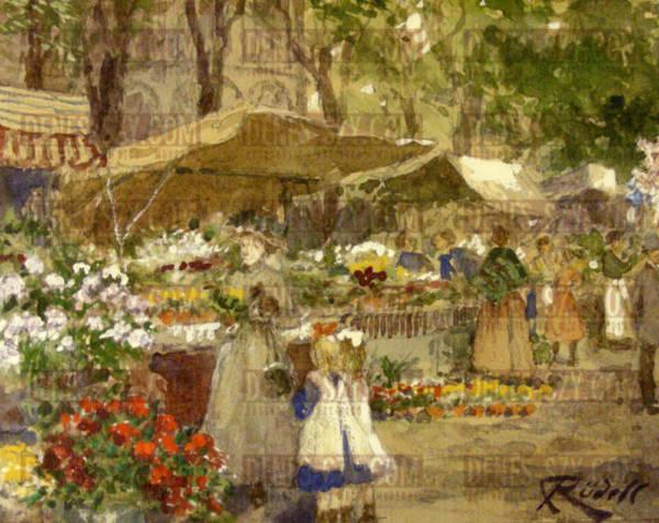 Carl Ruedell Blumenmarkt an St Gereon Koeln