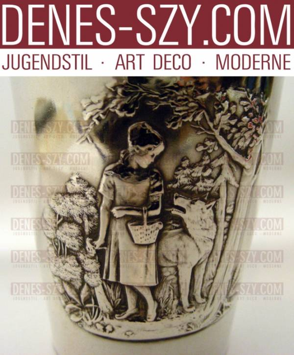 Bruckmann German Art Nouveau christening beaker by fairy tales, series