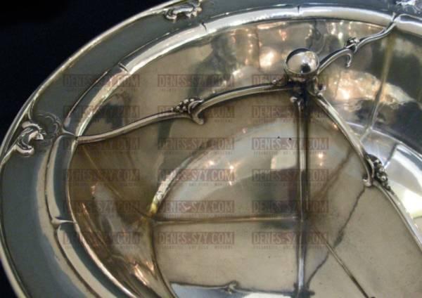Bol en argent, Conception: Georg Jensen, Exécution: Orfèvre Georg Jensen, Copenhague vers 1950, Argent 925, 925S, argent sterling