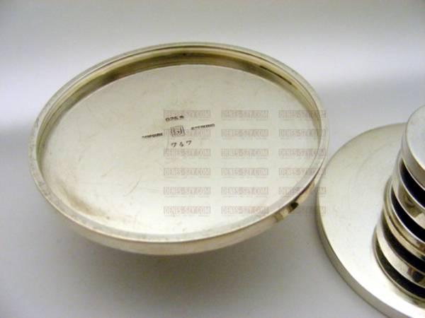 """petit """"lustre à disque"""" # 747, motif PYRAMIDE, Conception: Harald Nielsen vers 1932, Exécution: Georg Jensen orfèvres, Copenhague 1933-44, argent sterling"""