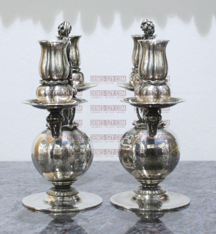 argent Georg Jensen, candélabre 324, pavot