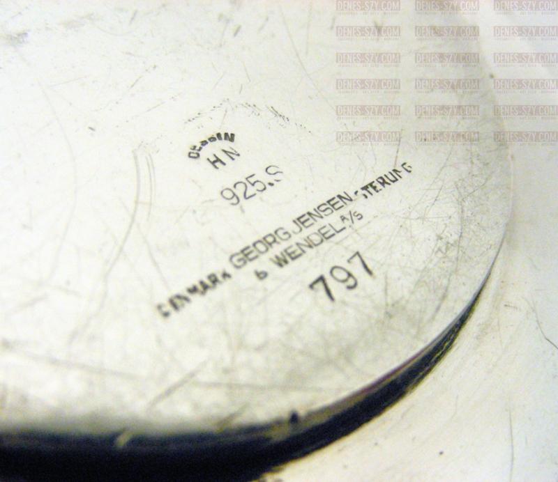 GEORG JENSEN Silber Karaffen Tablett Halter # 797