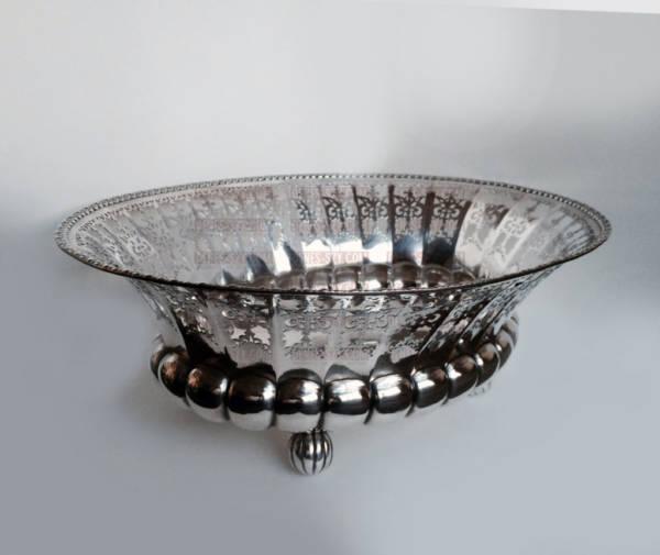 Art Deco Silber Obst Schale Bruckmann Heilbronn um 1920