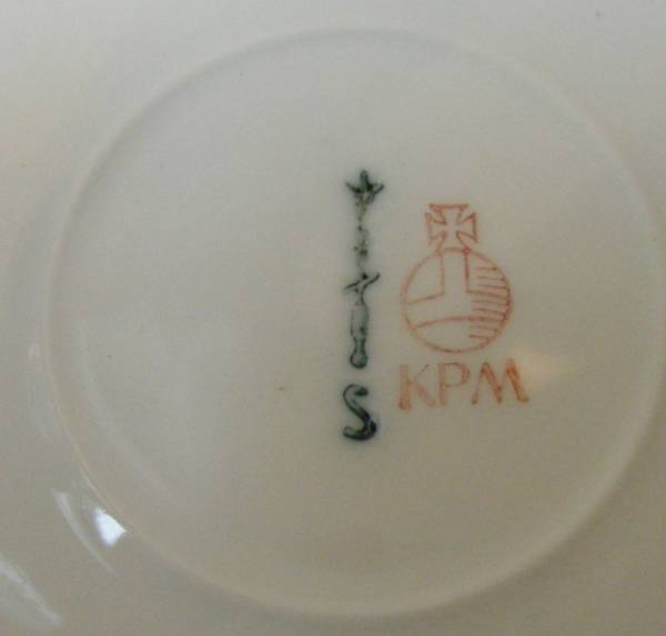 KPM ROYAL BERLIN, GERMAN PORCELAIN BUTTERFLY DISH by ELSE MOECKEL