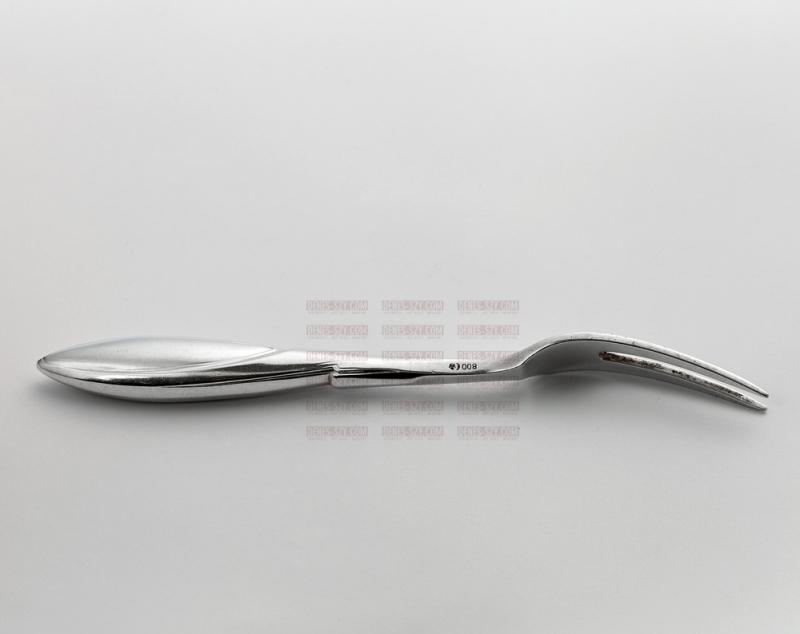 Henry van de Velde, silver cutlery model no. 1, meat fork