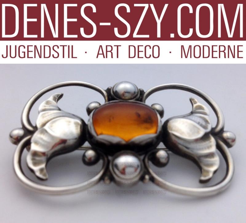 Broche Art Déco Georg Jensen en argent sterling 236 A