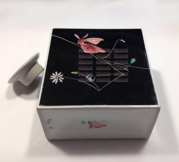 KPM Berlin porcelain Urbino tea caddy, box moth Möckel