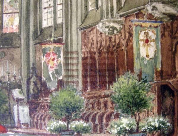 Carl RÜDELL, Trauung in St, Andreas zu Köln, ca. 1916