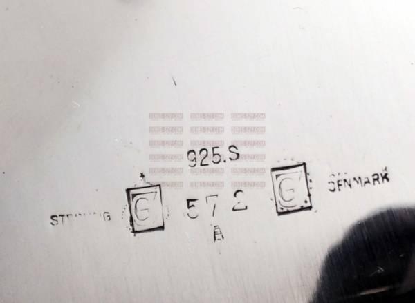 Georg Jensen Silber, KAKTUS Tablett # 572 A