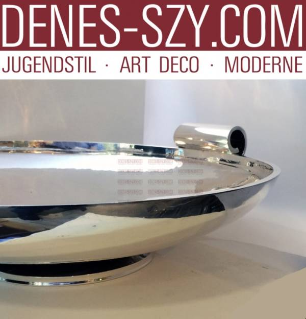 Georg Jensen Silver Pyramid pattern huge centerpiece bowl 752