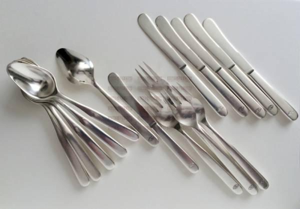 Henry van de Velde, silver cutlery model no. 3, dessert spoon