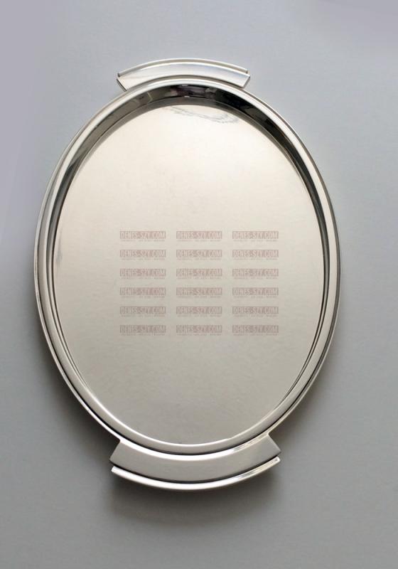 GEORG JENSEN SILBER, PYRAMIDE Tablett 600 I