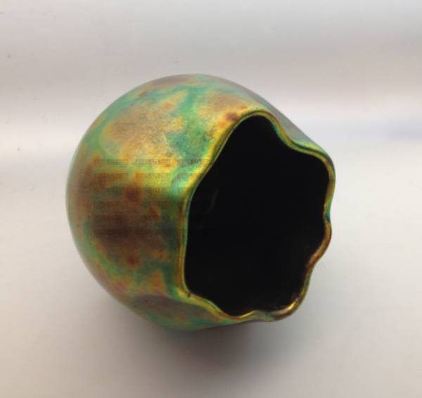vaso in ceramica smaltata a lustro della manifattura Zsolnay 1900