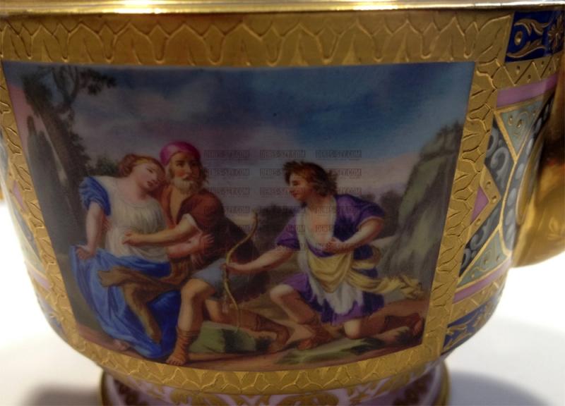 WIEN 1800 klassizistische Porzellan Teekanne