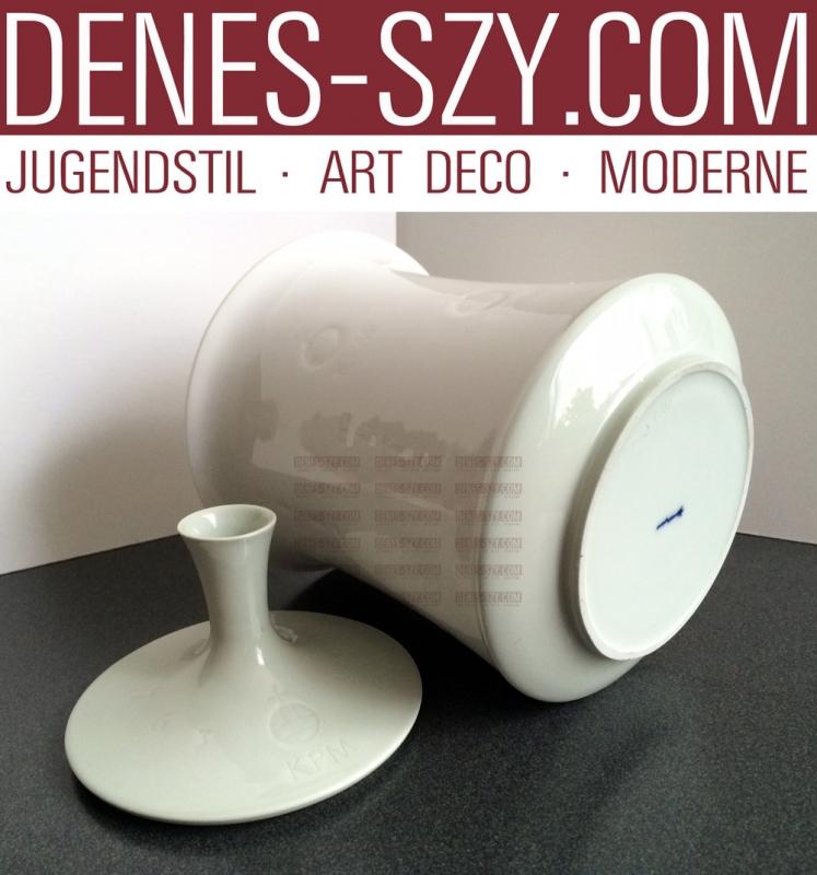 German Royal KPM Berlin porcelain Biscuit box Design Trude Petri 1963