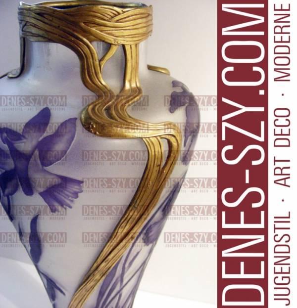 ORIVIT Jugendstil vaso in peltro 2545 Colonia 1900